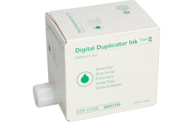 lanier Type II Green Digital Duplicator Ink Box - 893176