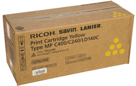 lanier Type MP C400/C240/LD140C Yellow Print Cartridge - 841727