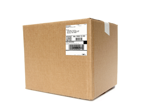 large box with shipping label