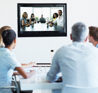 Professionals in a video conference