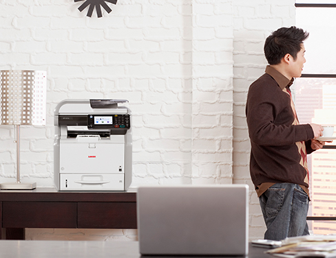 Man with printer