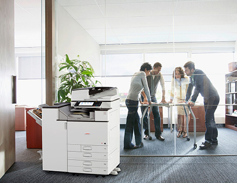 Office with Lanier printer.