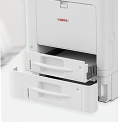 Photo of the Lanier SP C352DN printer.
