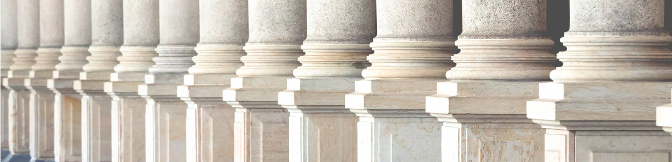 View of court house columns