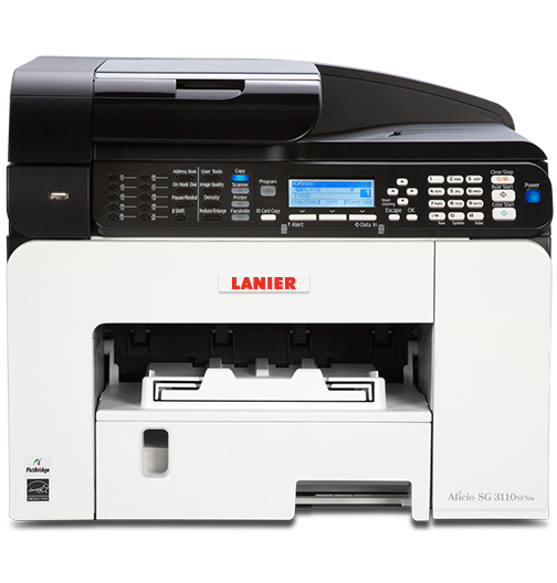 lanier SG 3110SFNw Color GELJET™ Multifunction Inkjet Printer