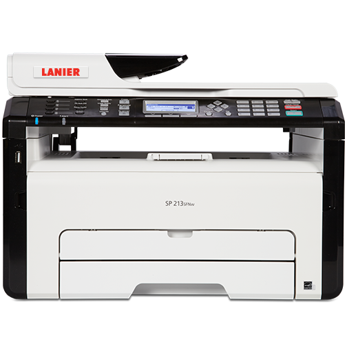 lanier SP 213SFNw Black and White Laser Multifunction Printer