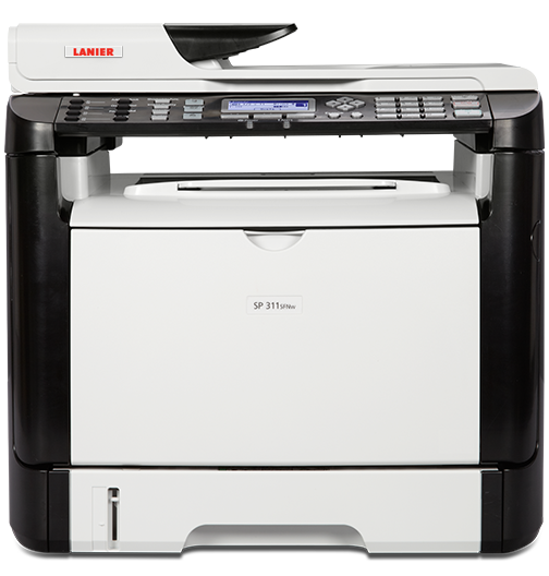 lanier SP 311SFNw Black and White Laser Multifunction Printer