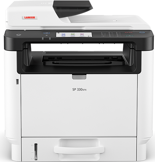 lanier SP 330SFN Black and White Laser Multifunction Printer