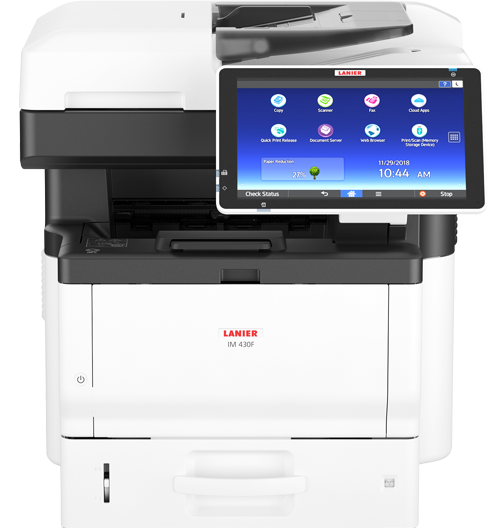 lanier IM 430F Black and White Multifunction Printer