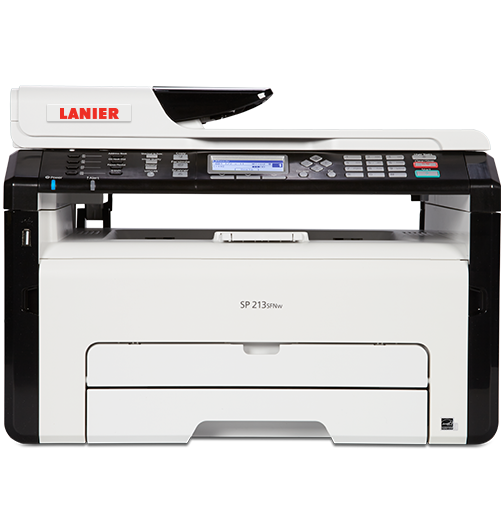 lanier SP 213SNw Black and White Laser Multifunction Printer