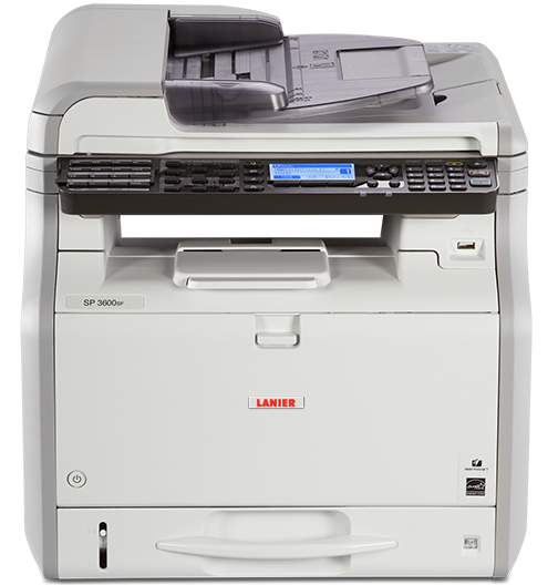 lanier SP 3600SF Black and White Multifunction Printer