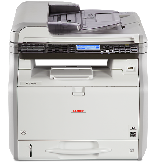 lanier SP 3610SF Black and White Multifunction Printer